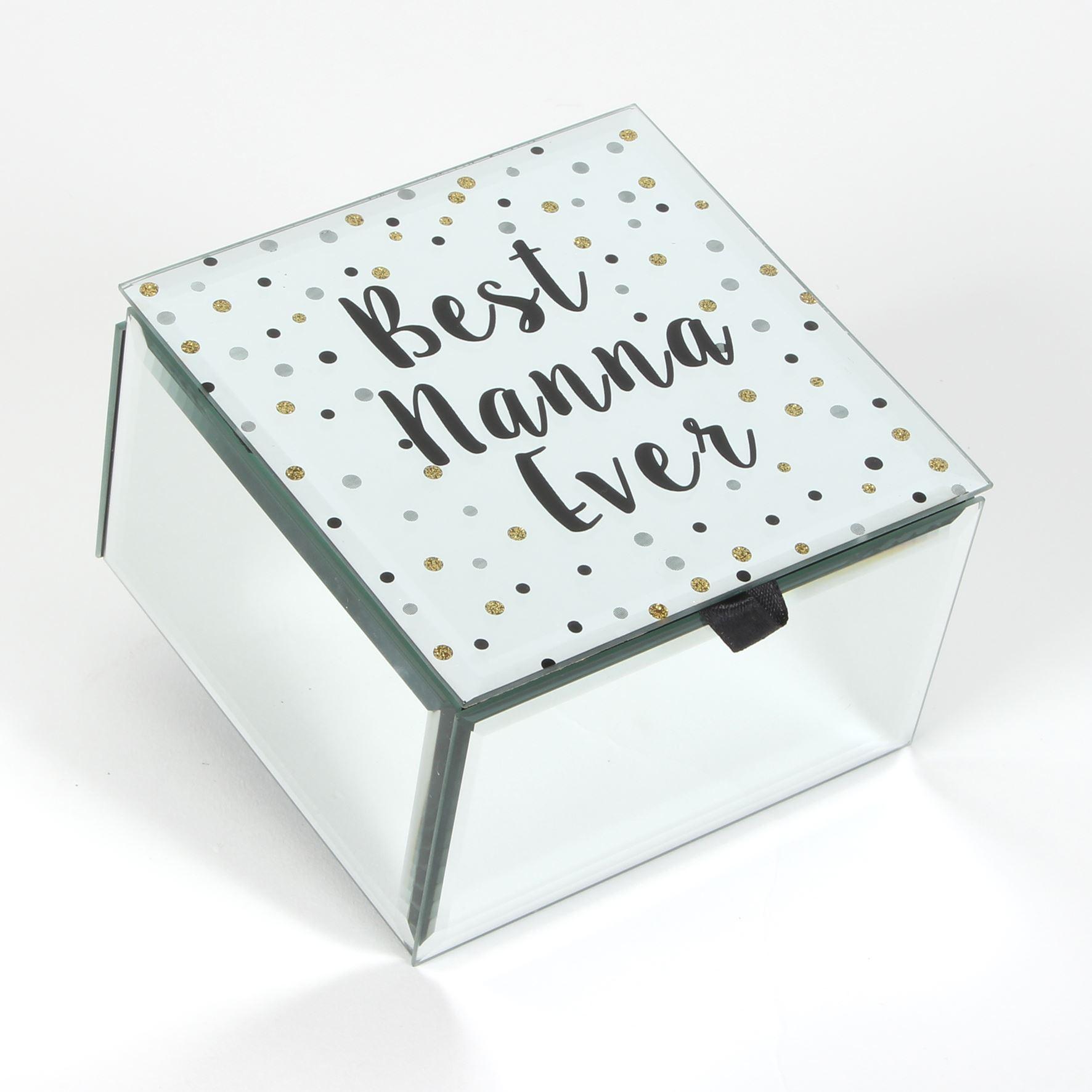 Celebrations Best Nanna Ever Glass Trinket Box