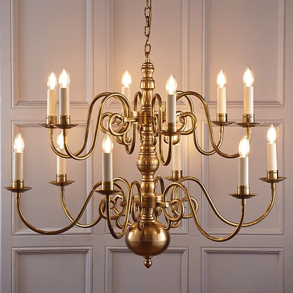 Traditional Style Chamberlain Ceiling 12 Light Pendant Candle Design Bulbs