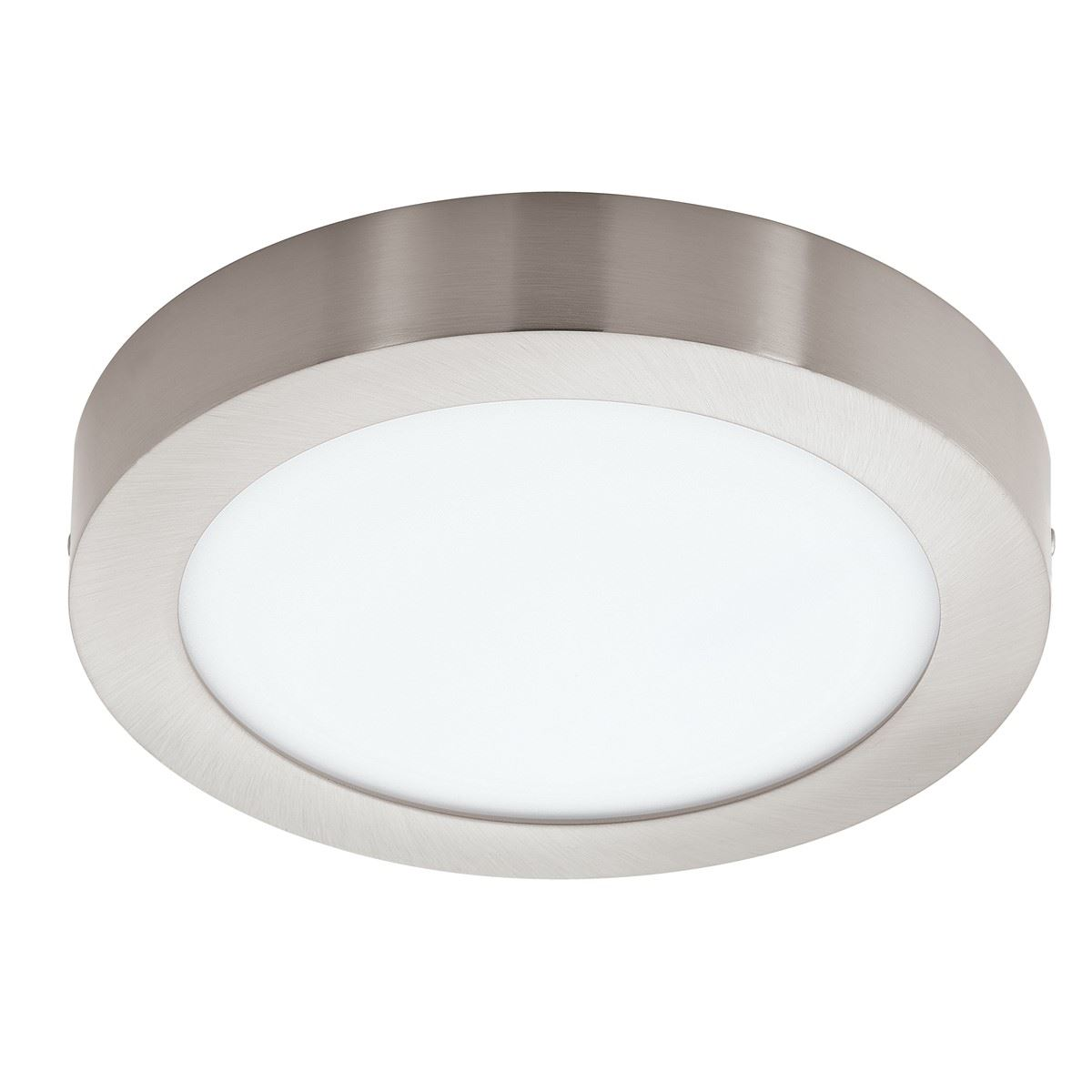 EGLO Fueva Led Surface Mounted Light Dia 225Mm Nickel Plastic White Shade