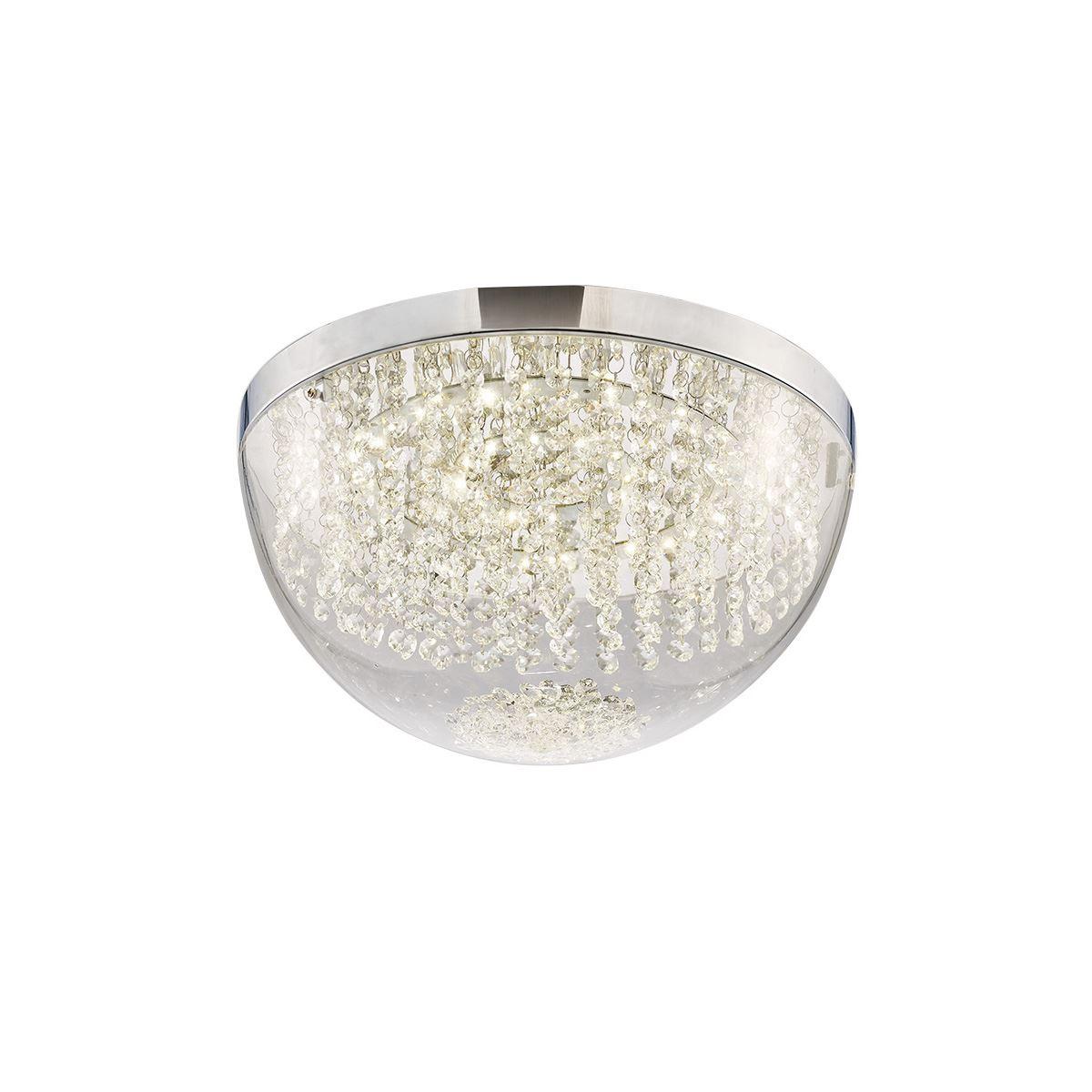 Diyas IL80013 Harper Large Ceiling 21W 1600lm LED 4000K Polished Chrome/Crystal