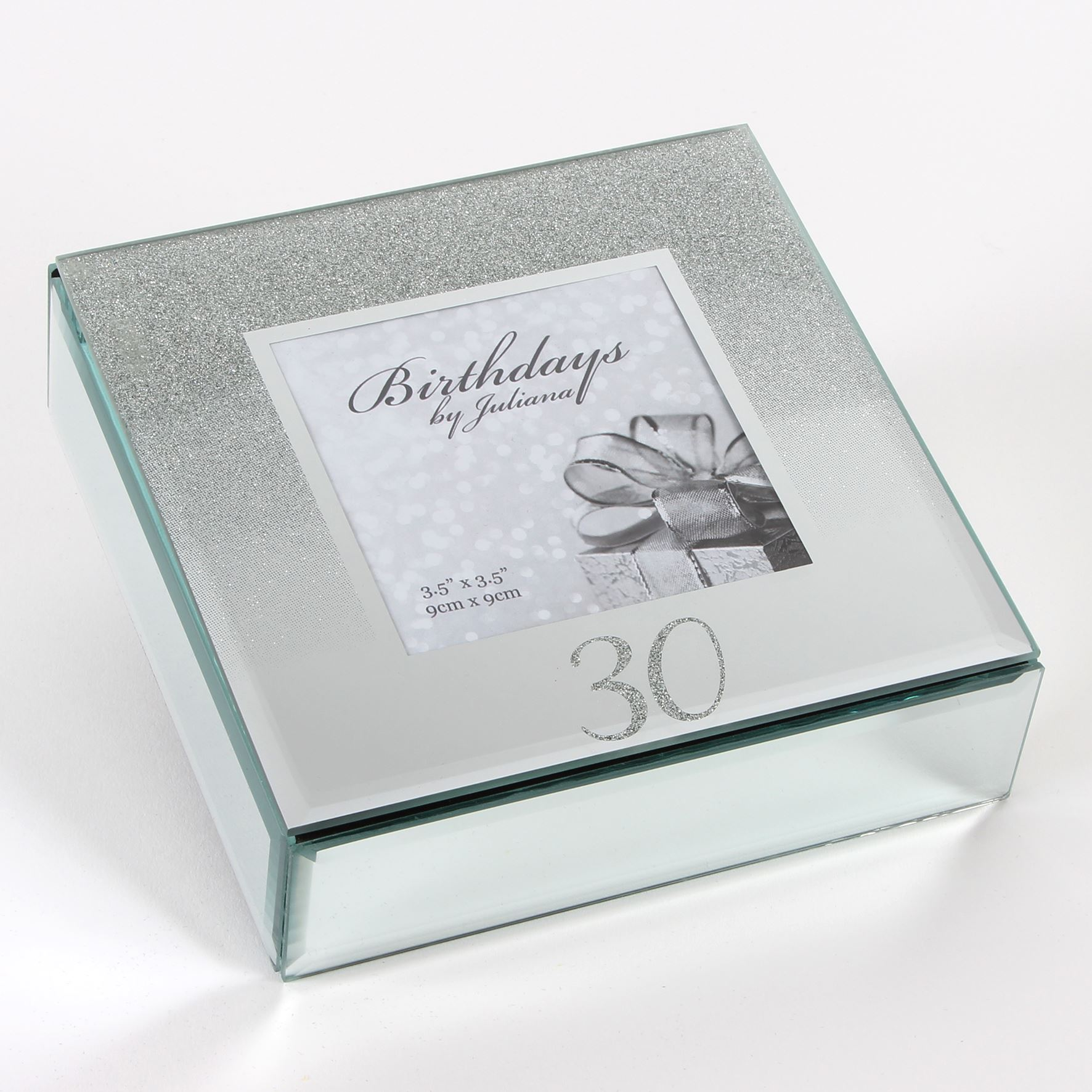 Birthdays By Juliana Glitter Mirror Trinket Box - 30Th