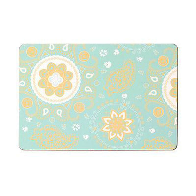 Paisley Spiral Placemats,Set of 4,Cork