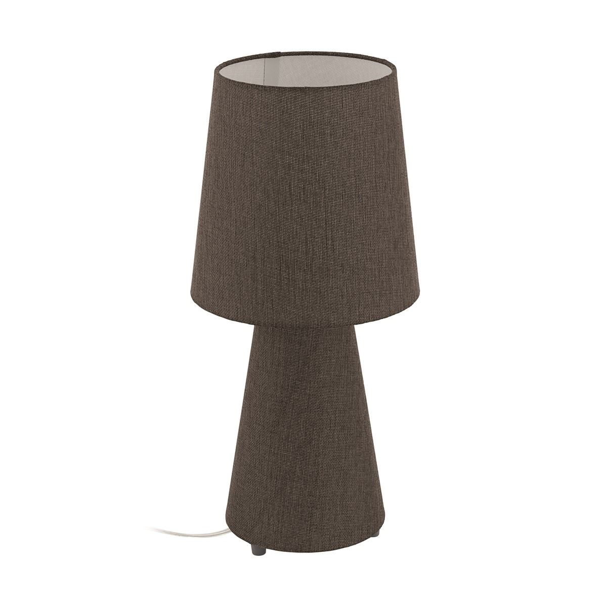 Carpara Brown Linen Table Lamp With Fabric Shades