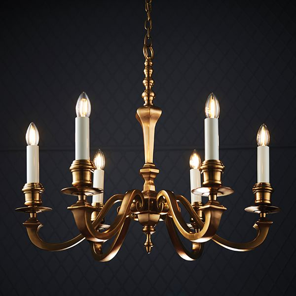 Stunning Fenbridge 6Lt Ceiling Pendant Light Fitting With Antique Brass Finish
