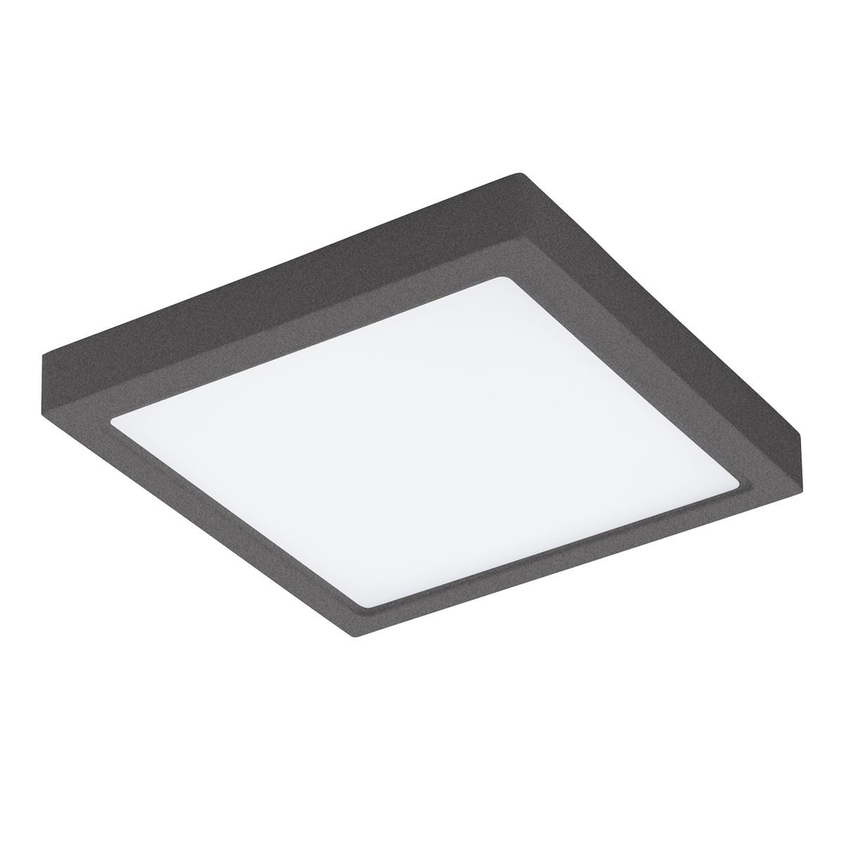 EGLO Square Ceiling Light Argolis Black Led 22W Ip44 Cast Aluminum Led