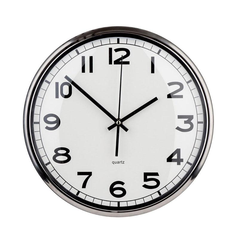 Chrome Finished Round Stylish Wall Clock