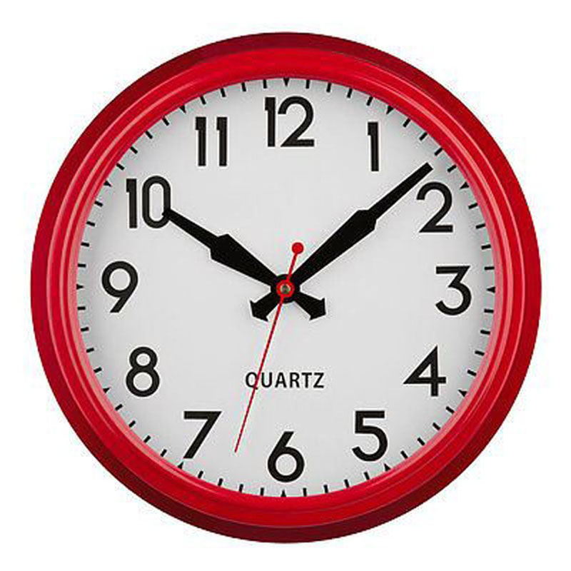 Modern Style Red Metal Wall Clock