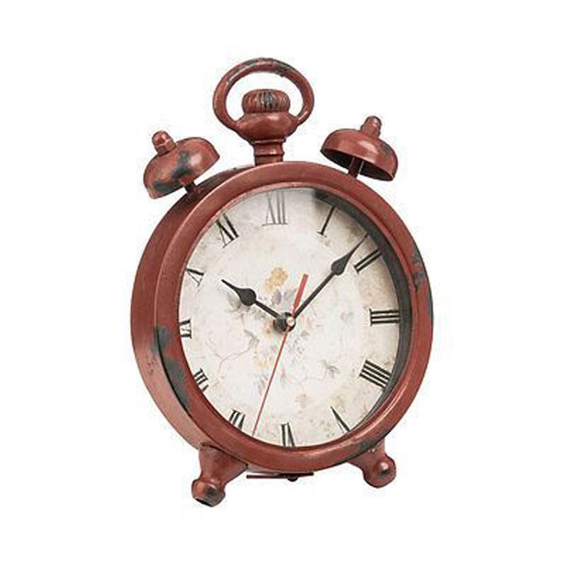 Clock Red Metal