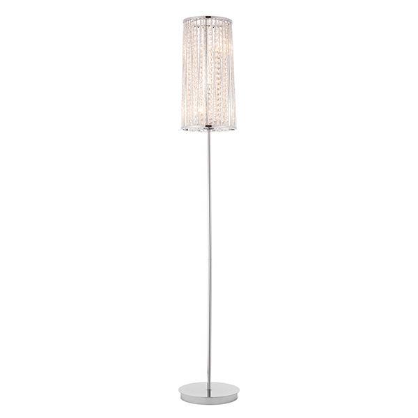 Sophia 3Lt Floor Lamp 28W SW - Chrome Plate Stylish Design