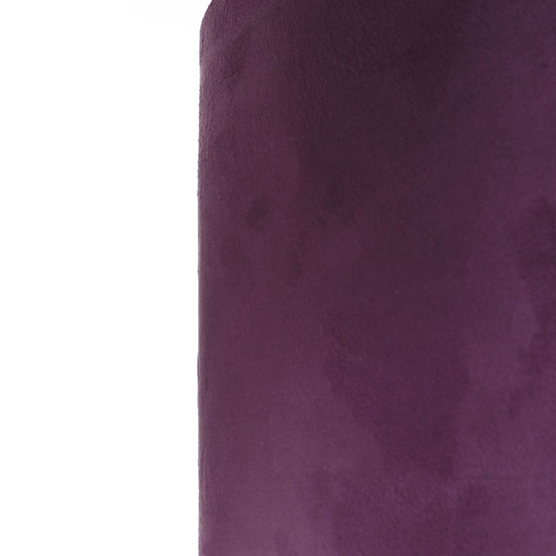 Mistro Floor Lamp, Feature Chrome Base, Purple Suede Effect Shade