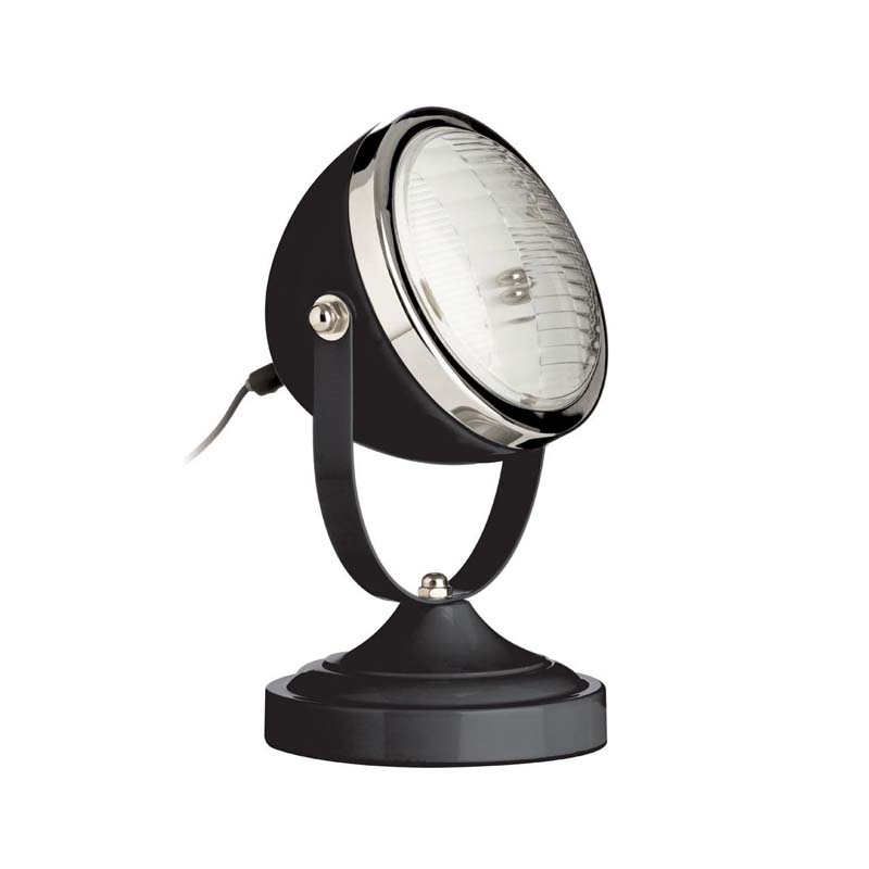 Chic Design Spot Table Lamp, Black/Chrome Finish - Retro Style