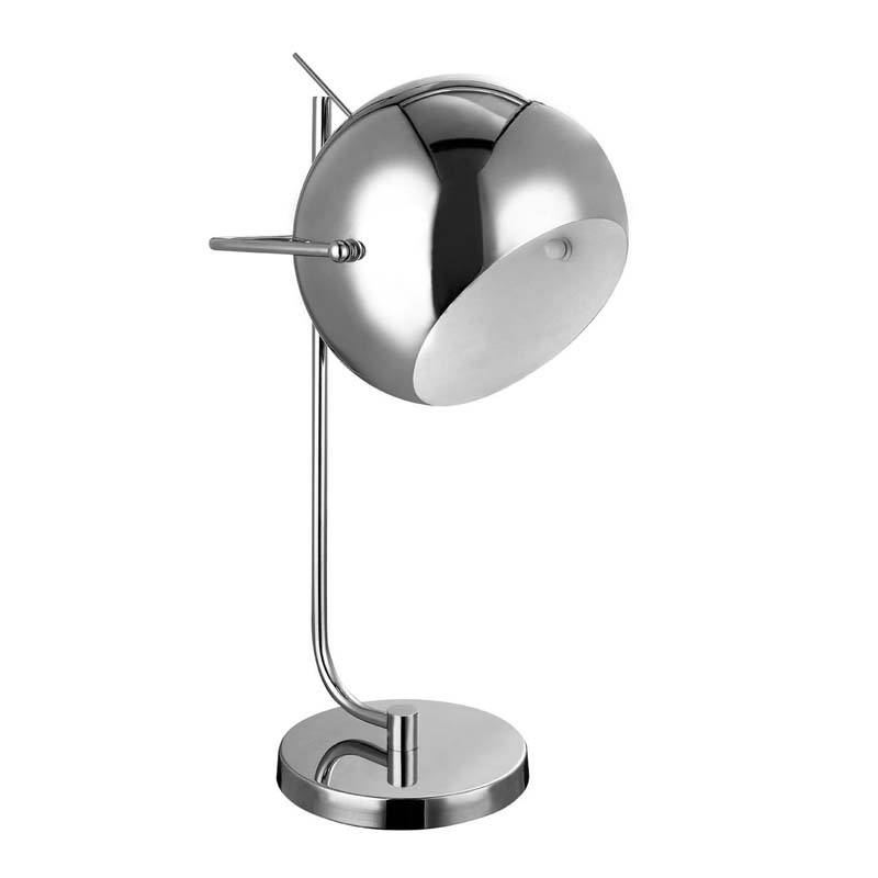 Silver Chrome Table Lamp And White Inside