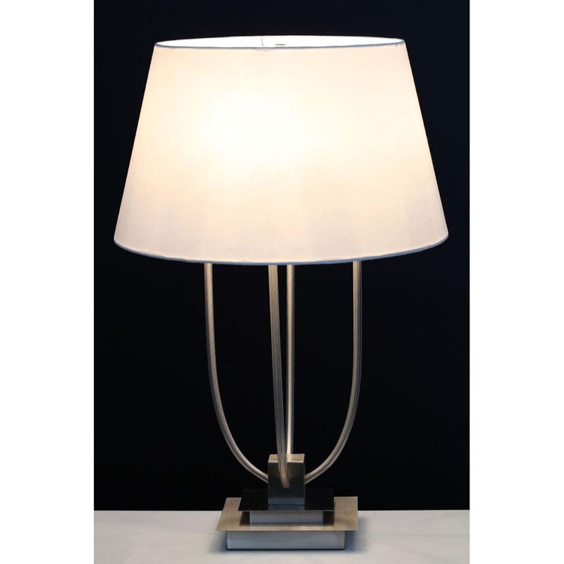 Stunning Regents Park Table Lamp With Satin Nickel Finish Base
