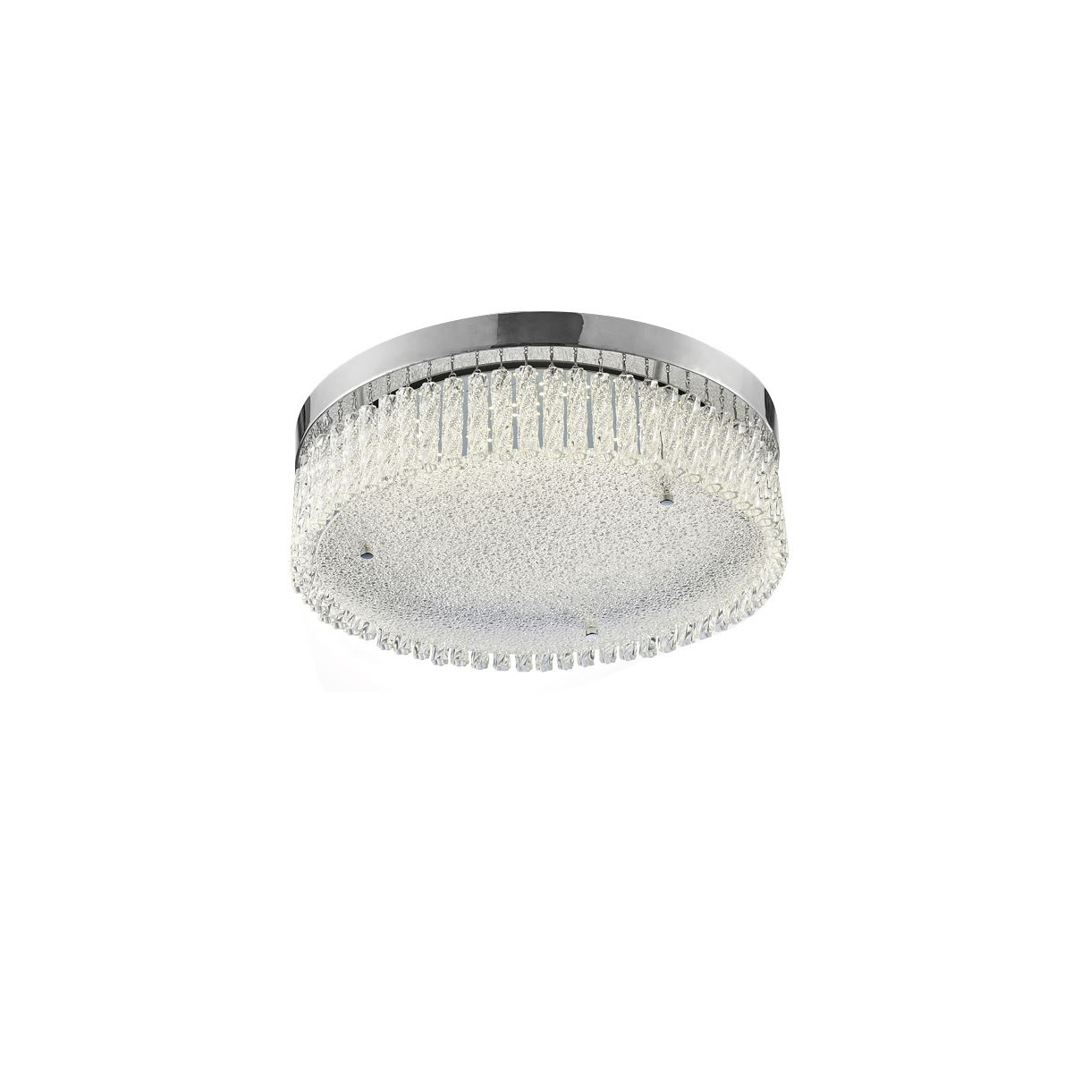 Diyas Aiden Large Round Ceiling 21W 1900lm LED 4200K Polished Chrome/Crystal