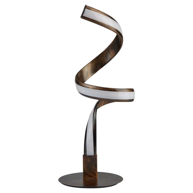 Ribbon Led Twist Table Lamp, Rustic Black/Gold
