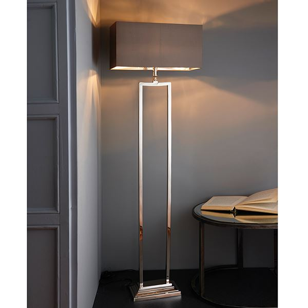 Cassier Lamp Base Only Floor Lamp 60W SW - Bright Nickel Plated Brass