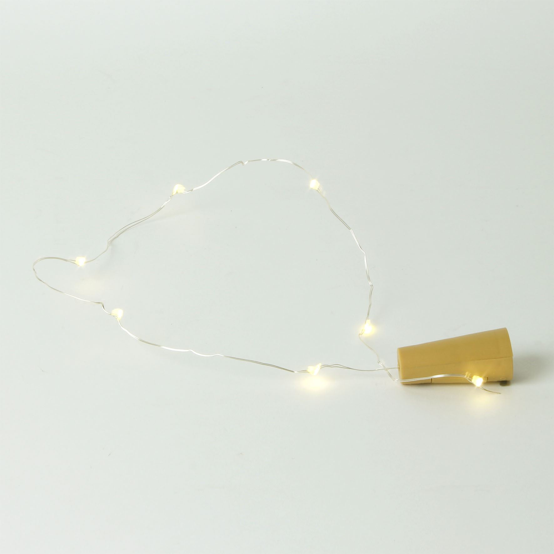 Led Cork Effect Light String - Include Batteries