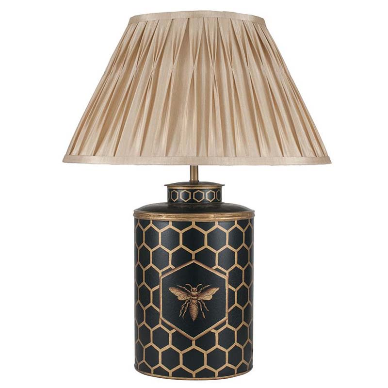 Black Honeycomb Hand Painted Lamp Base
