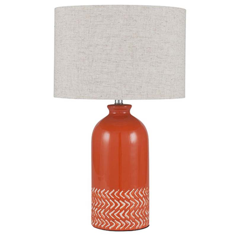 Paprika Ceramic Complete Table Lamp
