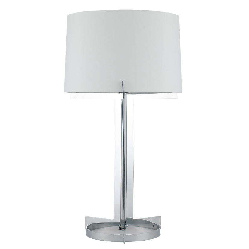 Chrome Hotel Table Lamp For Living Room Decor