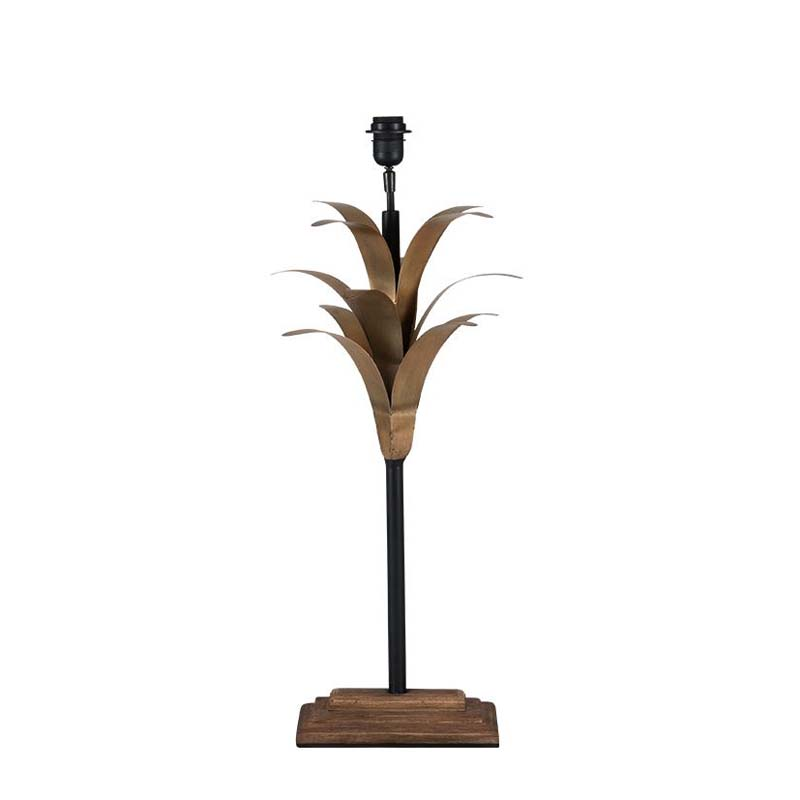 Antique Gold Metal Leaf Table Lamp
