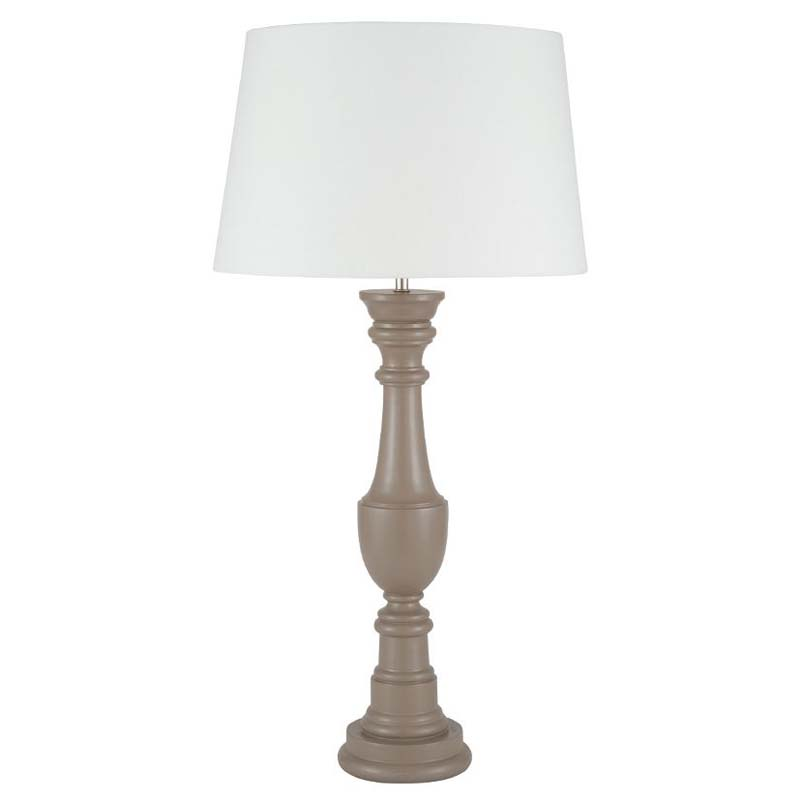 Lichen Grey Tall Urn Wood Table Lamp
