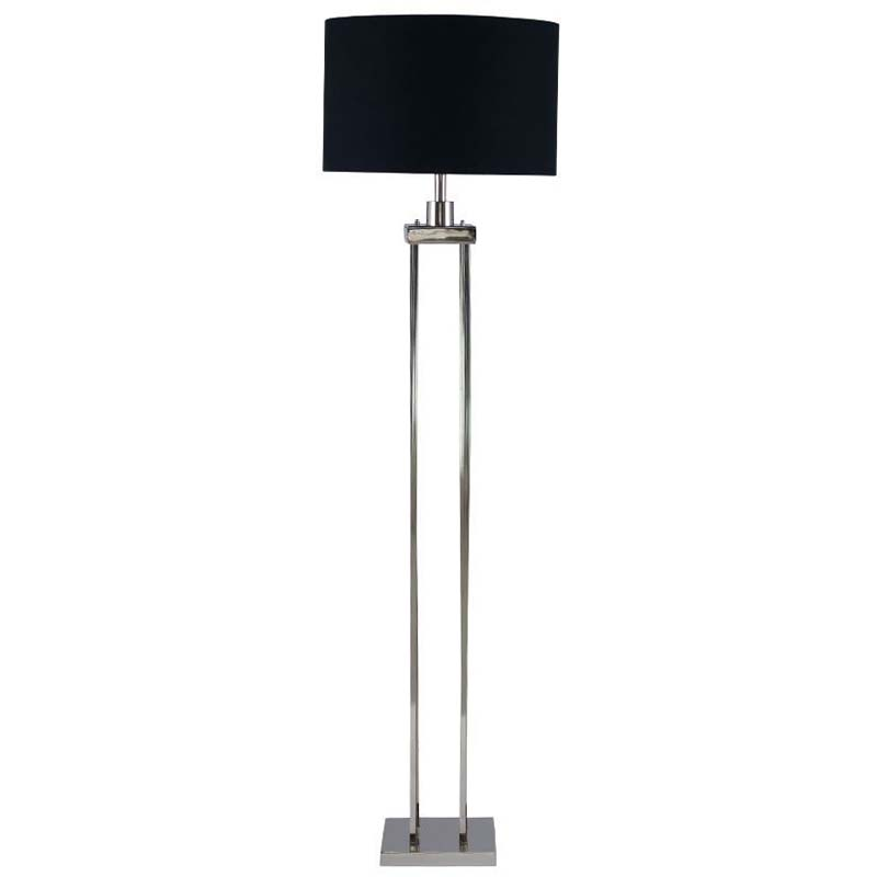 Classic Shiny Nickel 4 Post Floor Lamp Sleek And Stylish