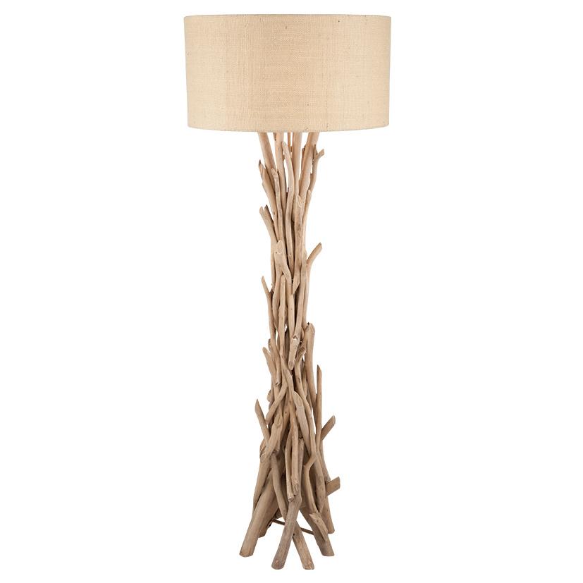 Drift Wood Floor Lamp With Natural Jute Shade