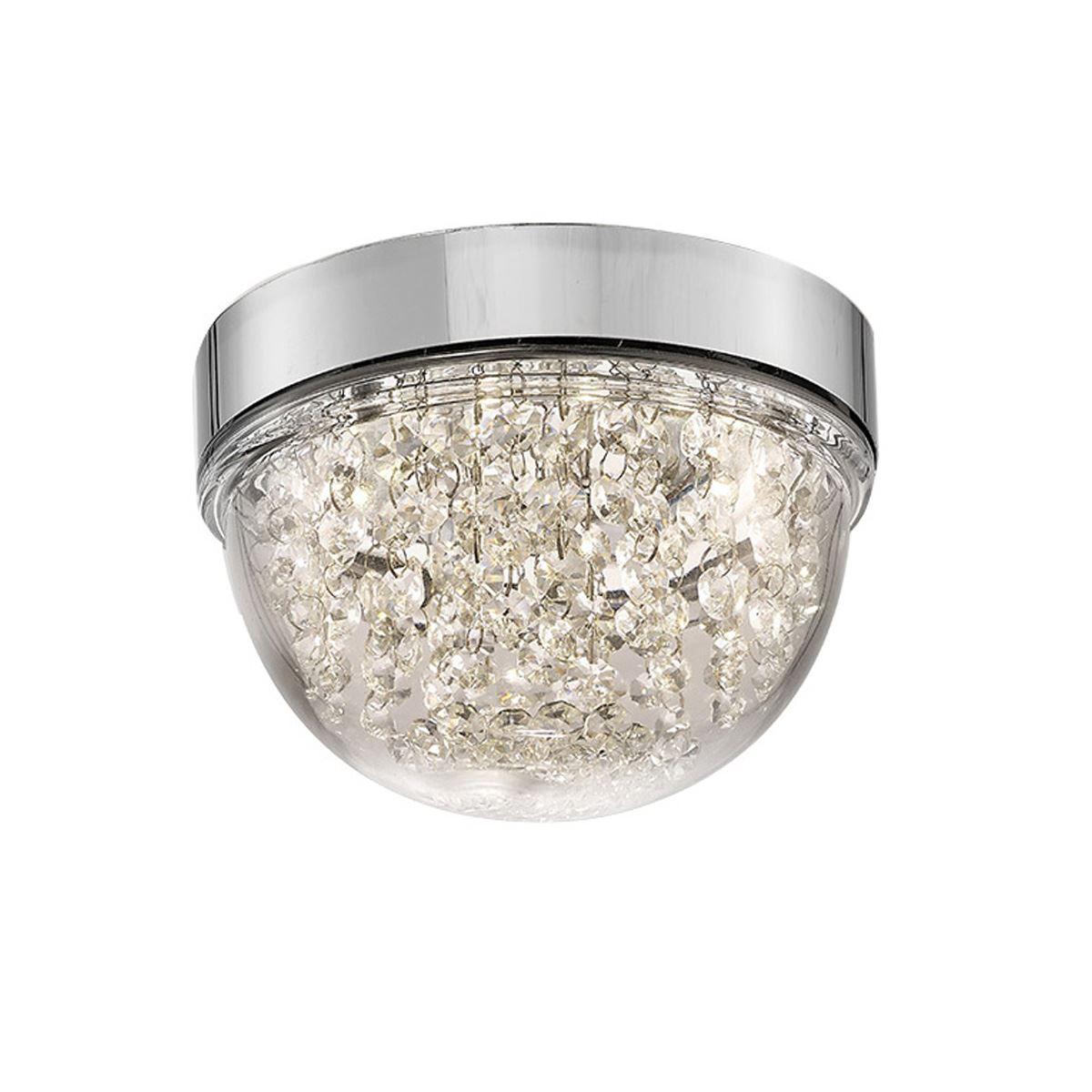 Diyas IL80010 Harper Small Ceiling 6W 500lm LED 4000K Polished Chrome/Crystal