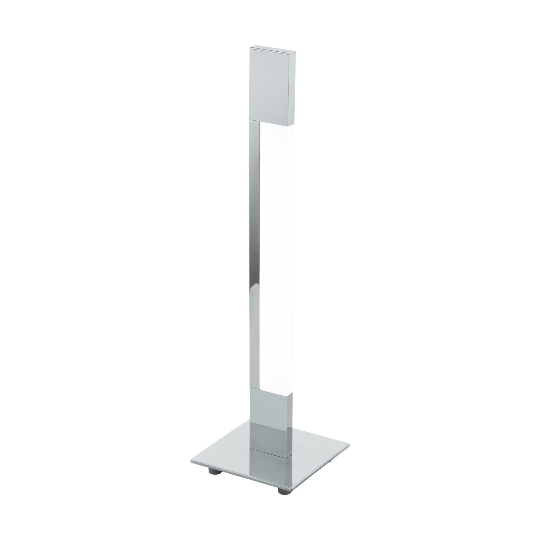 New Modern Looking Chrome Floor Lamp Aluminium Base Corner Living Room Led Light