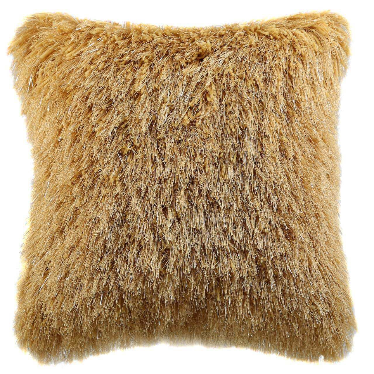 Fluffy Mustard Cushion