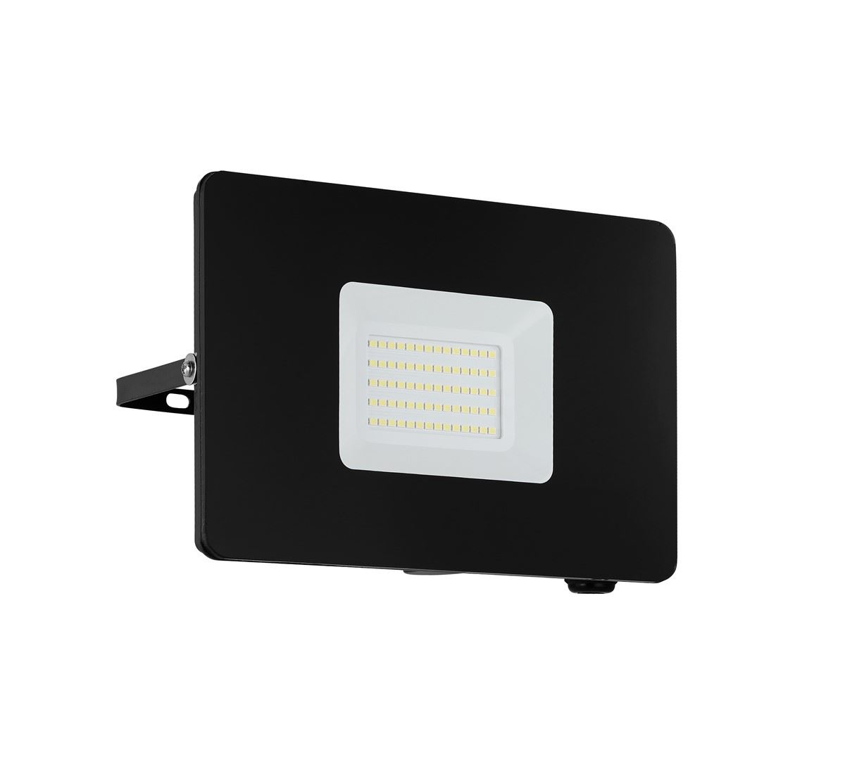 EGLO Pir Black Led Flood Light Outdoor Security Floodlight 50W Aluminium