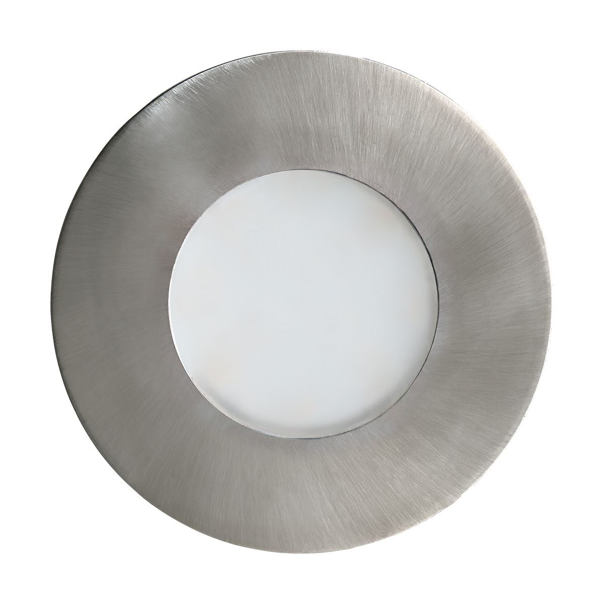 EGLO Margo Outdoor Round Recessed Lamp Ceiling Light In Stainless Steel/Silver