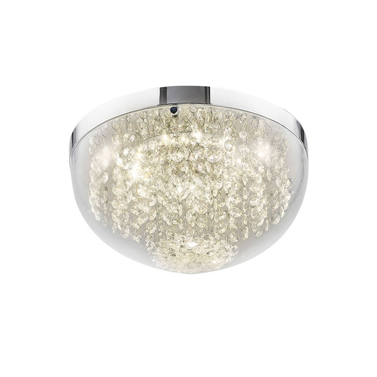Diyas IL80011 Harper Medium Ceiling 12W 950lm LED 4000K Polished Chrome/Crystal