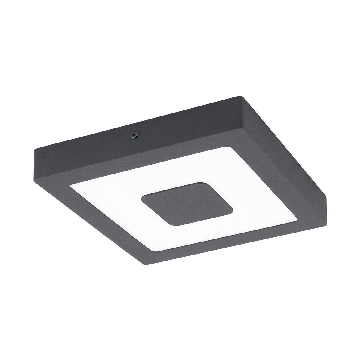 EGLO Al-Led-Dl Black Iphias, Ceiling Light Aluminum Casting Black