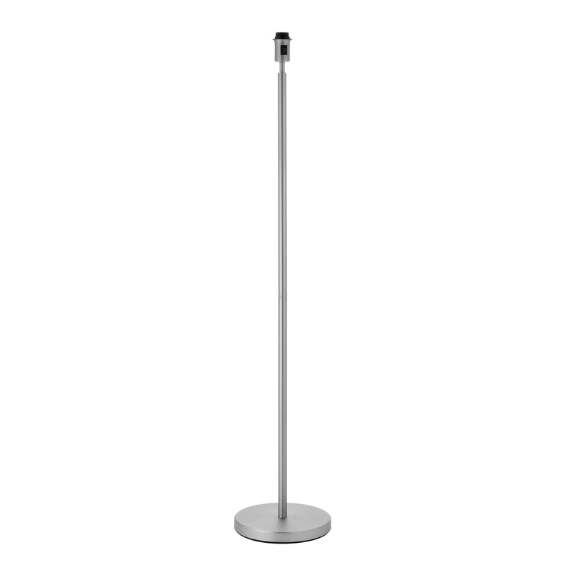 Owen 1 Light Floor Lamp With Matt Nickel Finished Base Plate