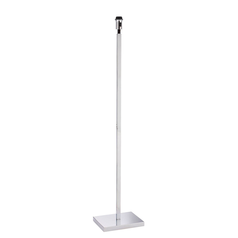 Norton 1 Light Floor Lamp With Chrome Effect Finished Plate - Home Lighting