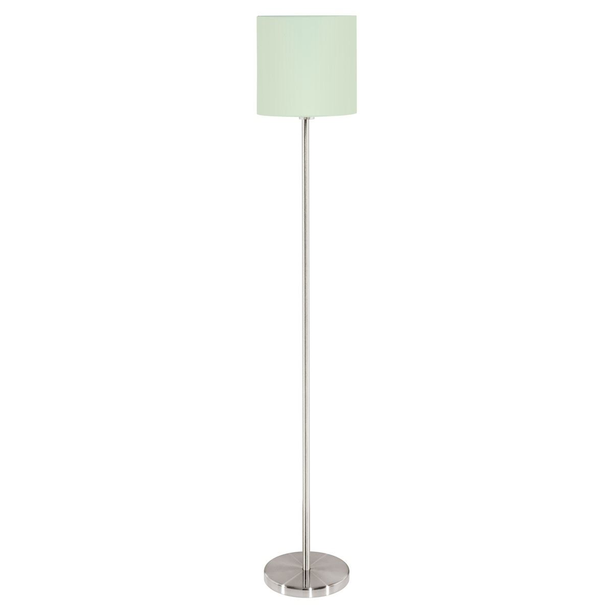 Retro Pastel Light Blue Tripod Floor Lamp Light Green Drum Fabric Shade Led Bulb