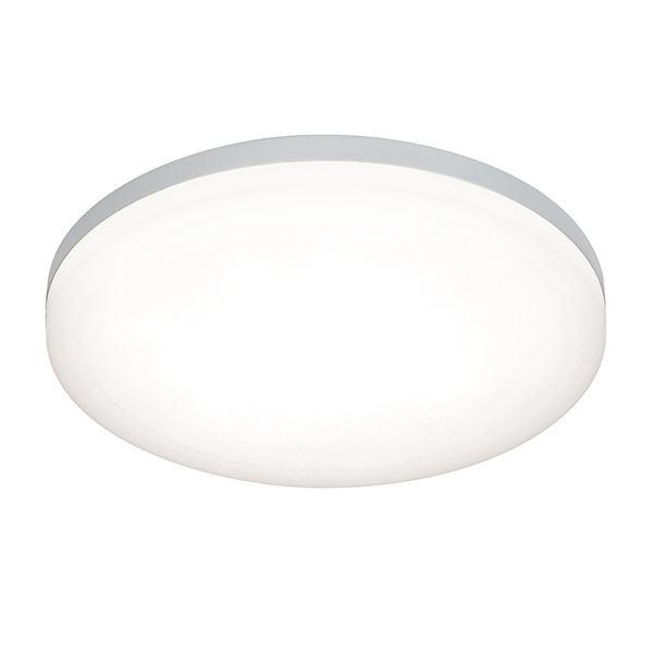 Noble 300Mm Round Flush Light FittingIP44 22W Cool White - Opal Glass Pc