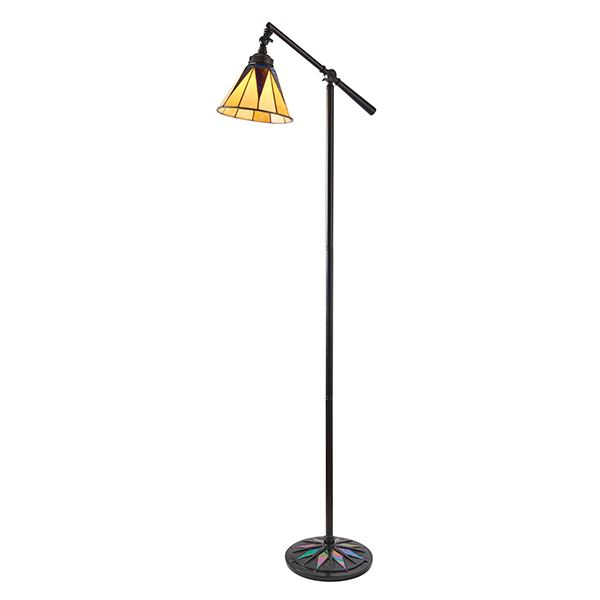 Dark Star Design Task Floor Lamp 40W Black Stee