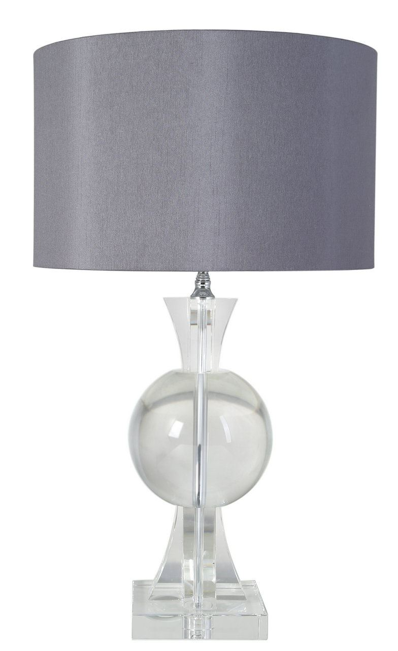 53cm Clear Crystal Thistle Table Lamp With 16