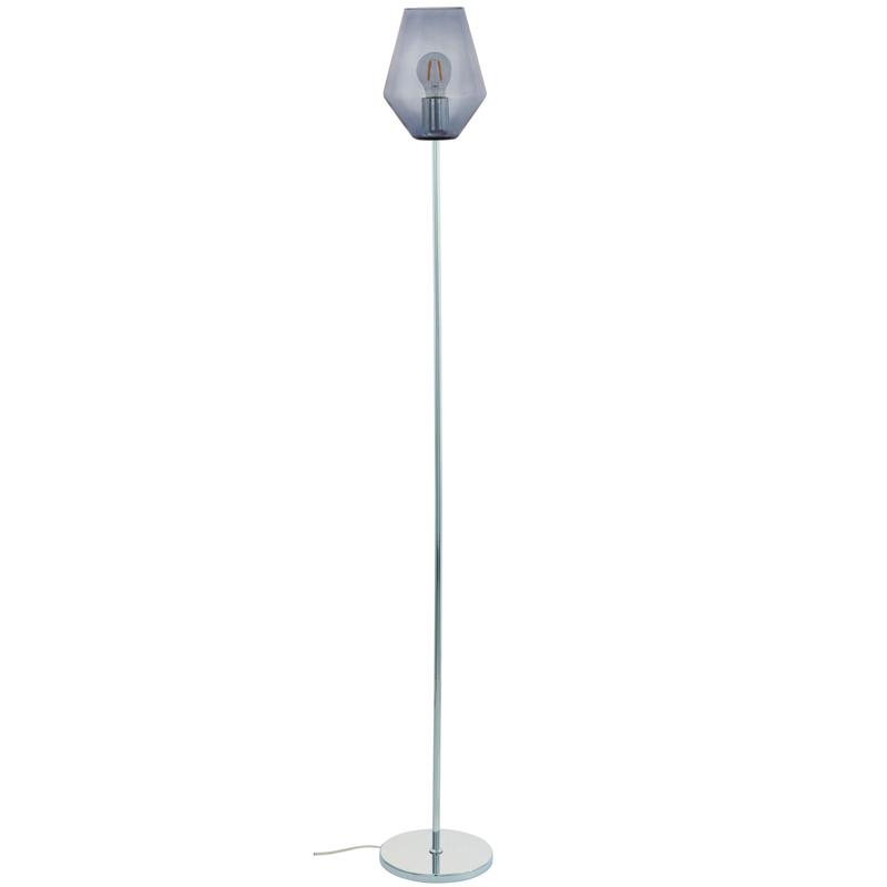 Industrial Standard Floor Lamp Steel Base Geometric Light Shade Lounge Lighting
