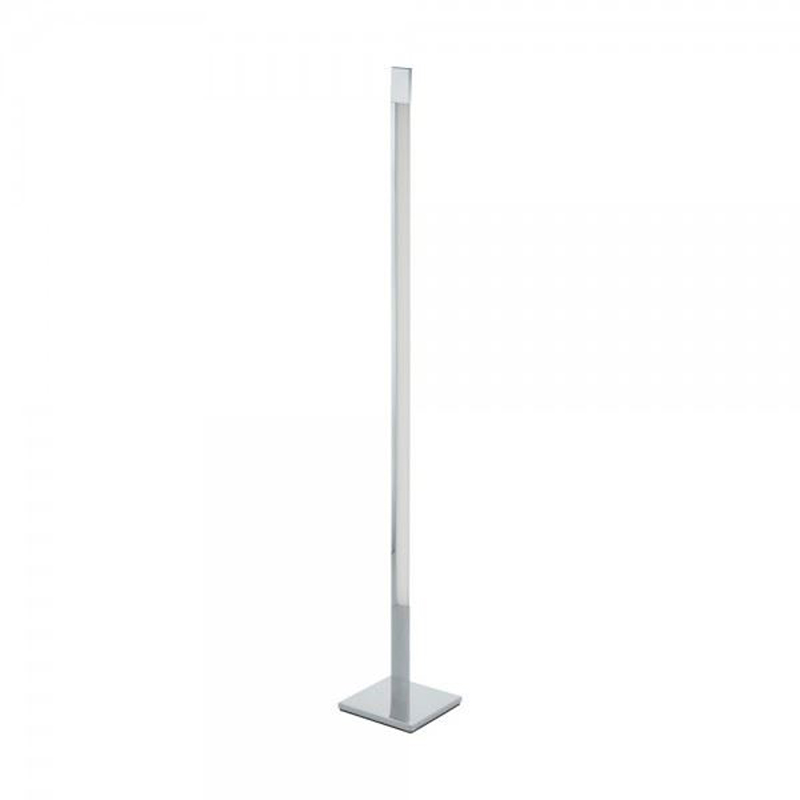 EGLO Aluminium Floor Lamp Corner Led Light Plastic Shade, 5W Bulb Touch Dimmer