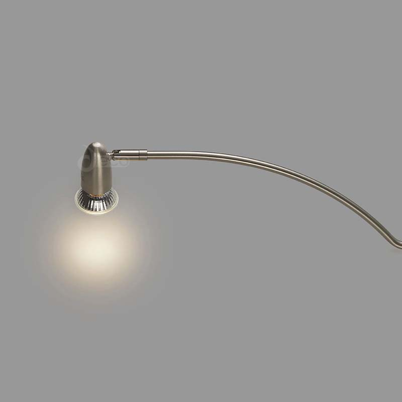 New Modern Satin Nickel Lex Over Cabinet 1 Light 2m Cable With Adjustable Head