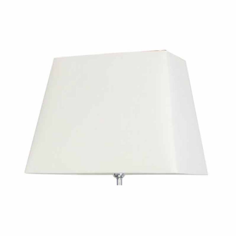 White & Silver Modern Champagne and Chrome Pebble Floor Lamps With 17 Inch White Shade
