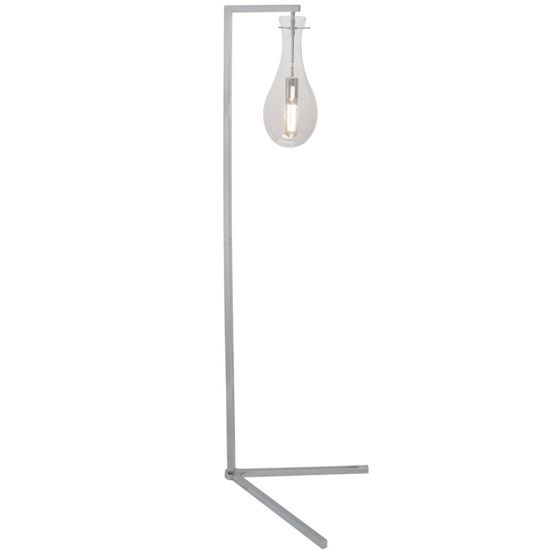 Telford Chrome And Glass Floor Lamp