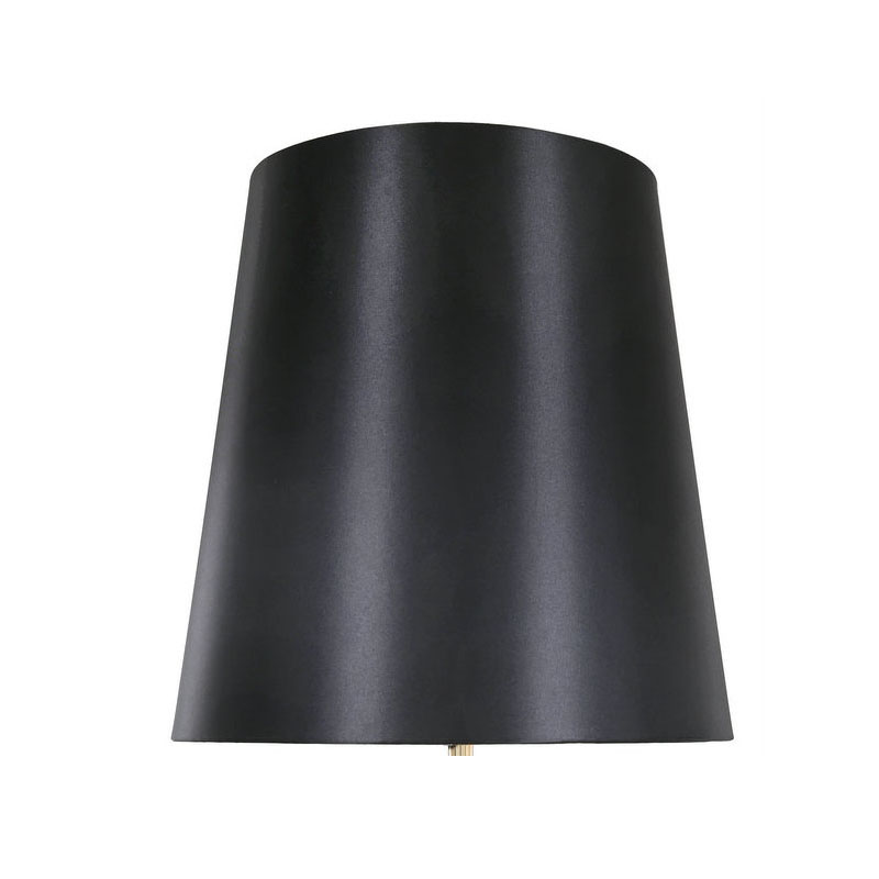 """Black Pearl Large Regal Gold Base Table Lamp With 19"""" Black Drum Shade"""