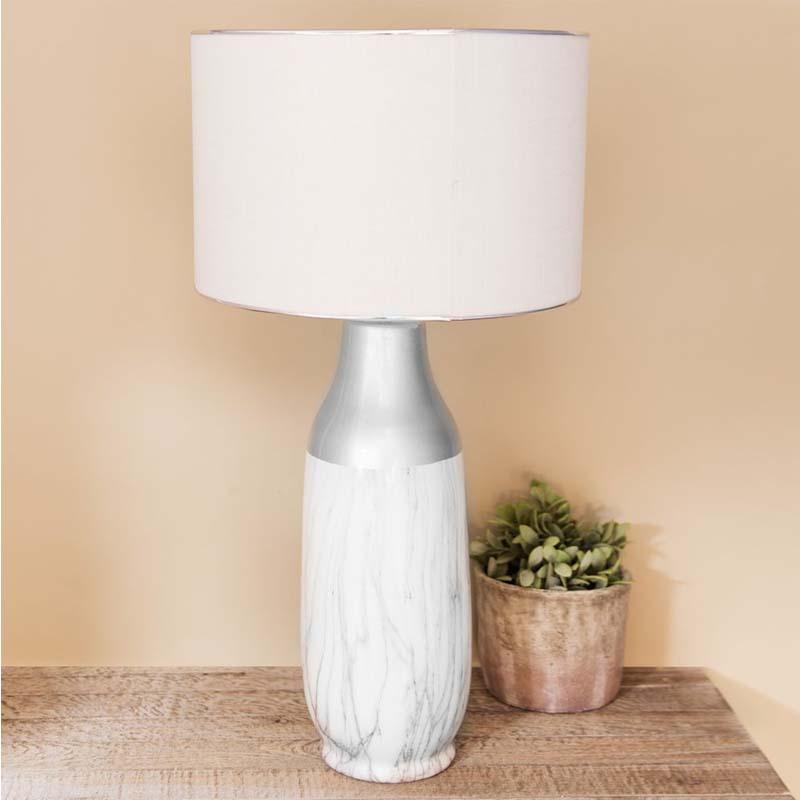 HESTIA? Ceramic Table Lamp Marble Effect Base