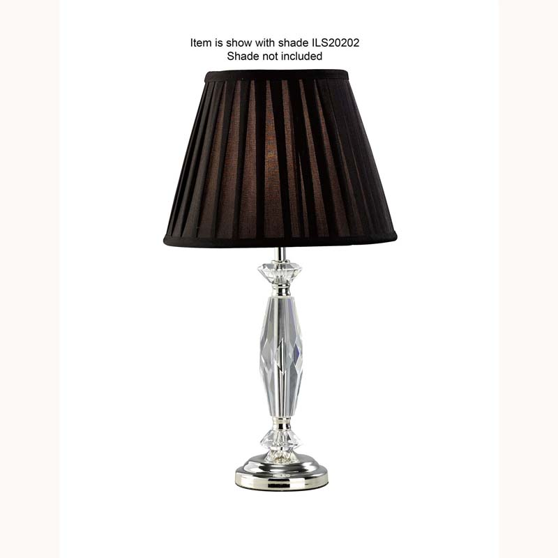 Modern Crystal Table Lamp Without Shade 1 Light Silver Finish