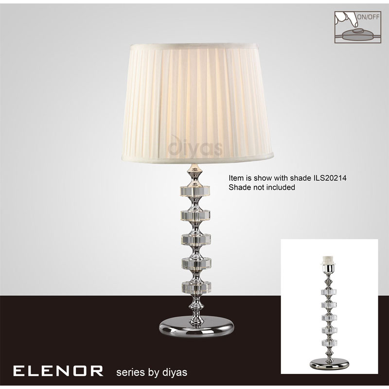 Modern 1 Light Crystal Table Lamp Without Shade